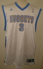 1ca192dcd4f Adidas Denver Nuggets Jersey 3 Allen Iverson NBA Replica Jersey Mens XL  White