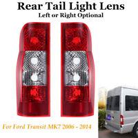 Rear Back Tail Light Lens Lamp Left / Right Fit Ford Transit MK7 06-14 Panel Van