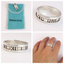 Stunning Rare Tiffany & Co Atlas Roman Numerals Ring UK size J
