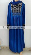 Muslim Abaya Kaftan Dress Isalmic Maix Hijab Scarf for Party Womens Wedding Eid