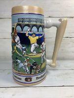 Budweiser Beer Stein, Baseball America's Favorite Pastime; 1990, In Original Box