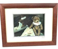 Framed Shadow Box Art Happy Teddy Bear and Angel signed Billy Gold No 16 Diorama