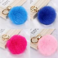 Rabbit fur key chains  1 Brand new color of your choice