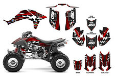 TRX 450R Graphic Kit with OEM, Fourwerx, Maier or Quadtech Hood #3500 Red