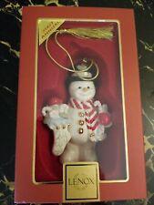 Lenox 2007 Annual Snowman Snowy Treats Ornament Mib