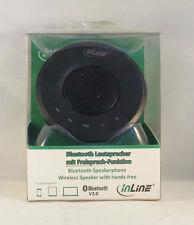 InLine® Bluetooth Lautsprecher mit Freisprech-Funktion Spracherkennung  schwarz