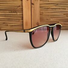 Vintage 80s BAUSCH & LOMB VIII / W0144 Black SUNGLASSES ~ Made in ITALY