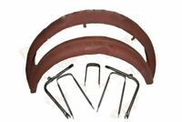 1950s Bsa C11 C10 250cc Raw Metal Front Rear Mudguard Set With Stays Fitting ECs
