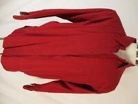 LL Bean Vintage Mens Red Flip Cuff Cotton Shirt XL Long USA Made