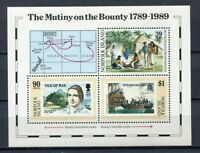 28219). NORFOLK 1989 MNH** Nuovi** Mutiny of Bounty S/S BF