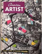 1955 American Artist January - Artzybasheff; James Flora; Saul Swarz; Sam Kamen