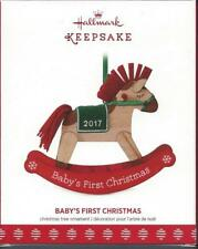 2017 Hallmark Keepsake Ornament Baby's First Christmas Rocking Horse