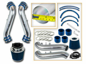 90-96 300ZX Fairlady Z32 3.0 V6 Non-Turbo DUAL PIPE AIR INTAKE KIT+ BLUE FILTER