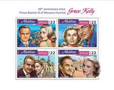 Maldives 2016 MNH Grace Kelly Prince Rainier III of Monaco 4v M/S Royalty Stamps