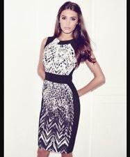 Bnwt🌹Lipsy Vip🌹Size 14 Black & White Print Shift Dress Multi Cocktail New £80