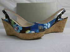 Marc Fisher Size 10 M Genoa Blue Slingbacks Wedges New Womens Shoes