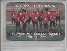 RARE 1995 YOUNGSTOWN STATE PENGUINS FOOTBALL POCKET  SCHEDULE (JIM TRESSEL)