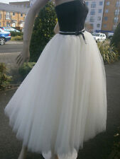 Tulle Patternless Formal Skirts for Women