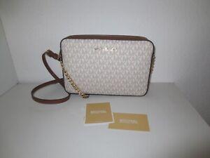 Michael Kors Tasche LG Crossbody Vanilla Braun Gold Taschen Schultertasche neu