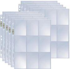 10 Ultra Pro 9-Pocket Silver Series pages dossier pages pour 3-Bague ALBUM-MAGIC: