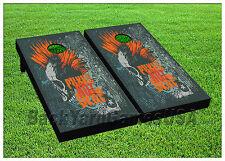 VINYL WRAPS Cornhole Boards DECALS Punks not Dead Bag Toss Game Stickers 839
