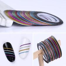 13Pcs Nail Striping Tape Line Rolls Matte Glitter Nail Art Stickers Manicure DIY