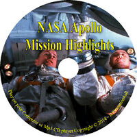 NASA Apollo Missions 7, 8, 9, 10, 11, 12, 13, 14, 15, 16, 17 Audio Highlights CD