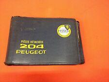 Peugeot 204 Teile Ersatzteile Katalog  (Werkstatt unterlagen) Oldtimer