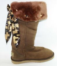 NEW Womens Size 10 AUSTRALIA LOVE Vanguard Chocolate Brown Sheepskin Boots