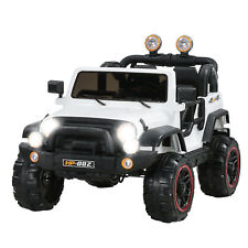White 12V Kids Ride on Cars Electric Battery Power Wheel Remote Control 4 Speed