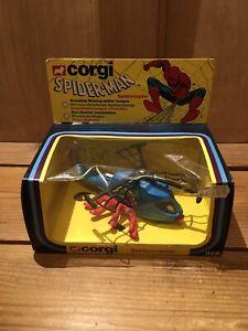 Spiderman Copter corgi 928 Almost Mint In Box