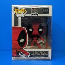 Funko Pop! DEADPOOL BOBBLEHEAD + PROTECTOR Marvel 80 Years 1st Appearance #546
