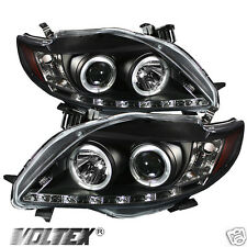 2009-2010 TOYOTA COROLLA DRL LED PROJECTOR HEADLIGHTS LIGHTBAR LIGHT LIGHT BLACK