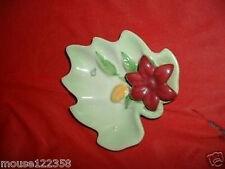 Vintage Zanesville Art Pottery Leaf Wall Decor