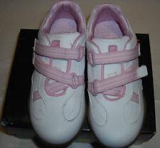 Stride Rite Girls TT Pandora White/Pink Leather Tennis Shoes 9.5 CG21656F