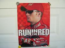 "Dale Earnhardt, Jr #8 Budweiser ""Run In The Red"" Nascar Poster"