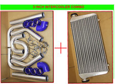 FIMC INTERCOOLER+TURBO PIPING KIT BLUE COUPLER CLAMPS IS300 IS250 GS300 LS400 V8