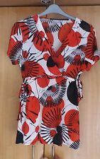 L@@K NWOT SIZE 18 WALLIS WRAP STYLE FLORAL PRINT DRESS UP DOWN PARTY TOP?