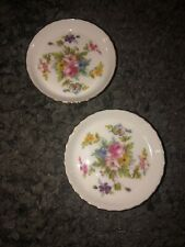 """LOT OF 4 MINTON MARLOW ENGLAND BONE CHINA COASTERS BUTTER PATS UNUSED 3 3/4""""D"""