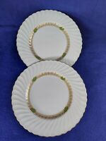 "SYRACUSE CHINA ""CHAMPLAIN"" USA 2 DINNER PLATES 10 1/4"" DIAMETER. EXCELLENT"