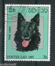 Laos, 1987, Stamp 773, Head, Dog, Obliterated, VF Used Stamp, Dogs