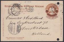 Mexico, 1905. Post Card H&G 113, Veracruz - Amsterdam, Hollan