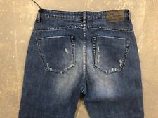 NWT WOMEN'S ONE TEASPOON JEANS CROP STRAIGHT HOOLIGANS BLUE CULT SIZE 26