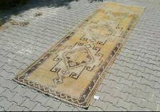 turkish runner,4x10 ft,Turkish Rug,Anatolian Rug,Bohemian,Vintage rug,Oushak Rug