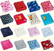 Playshoes Baby Kinder Fleece Kuschel Decke Bär, Blumen, Fußball, Hai, Die MAUS