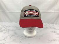 Budweiser Genuine King of Beers Hat Cap Snapback OSFA Red Gray Beer