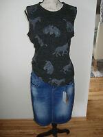 edc by Esprit NEU mit Etikett  Gr.: M 38 40 TOP Zebra Top grau anthrazit Shirt