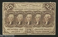 g731 USA Post Office 25 cents 1862 banknote - perforated without monogram