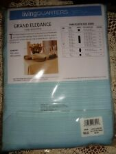 LIVING QUARTERS GRAND ELEGANCE LT. BLUE TABLECLOTH-NIP-60 X 120