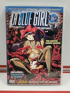 LA Blue Girl Volumes 1&2 Complete DVD Unrated Central Park Media RARE! Anime